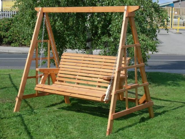 Design for a wooden swing seat google search taaaagho wooden garden swing garden swing - Columpios para casa ...