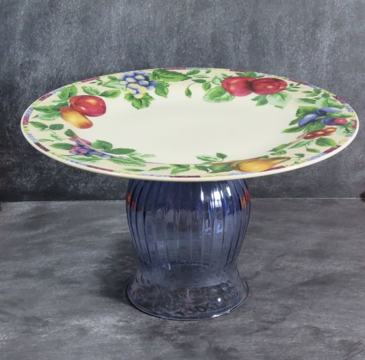 New to DancingDishAndDecor on Etsy: Cupcake Pedestal Fruit Plate Buffet Plate Stand Candle Centerpiece Cookie Plate Appetizer Dish Pastry Plate Stand (item# 00034) (22.00 USD)