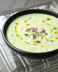 Cold Cucumber Soup with Yogurt and Dill - Andrew Zimmern from Food & Wine
