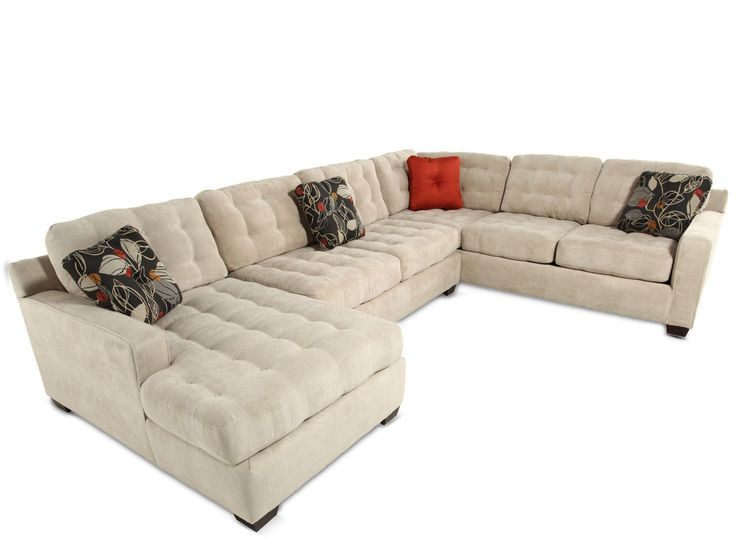 Deep Seated Tufted Sectional Broyhill Tribeca Mathis