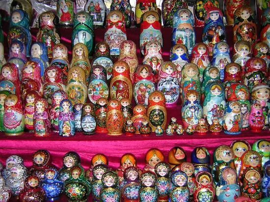 Moscow, Russia: russian dolls at arbat street #travel #vacation