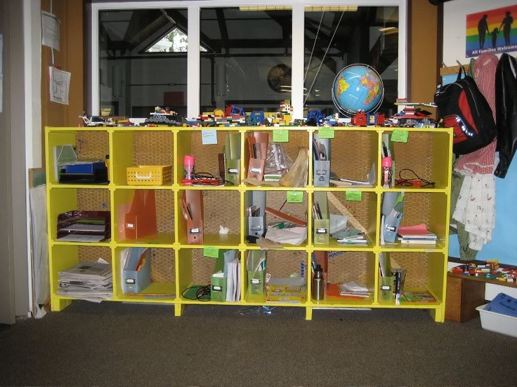 These student cubbies allow older students to customize their organization system.