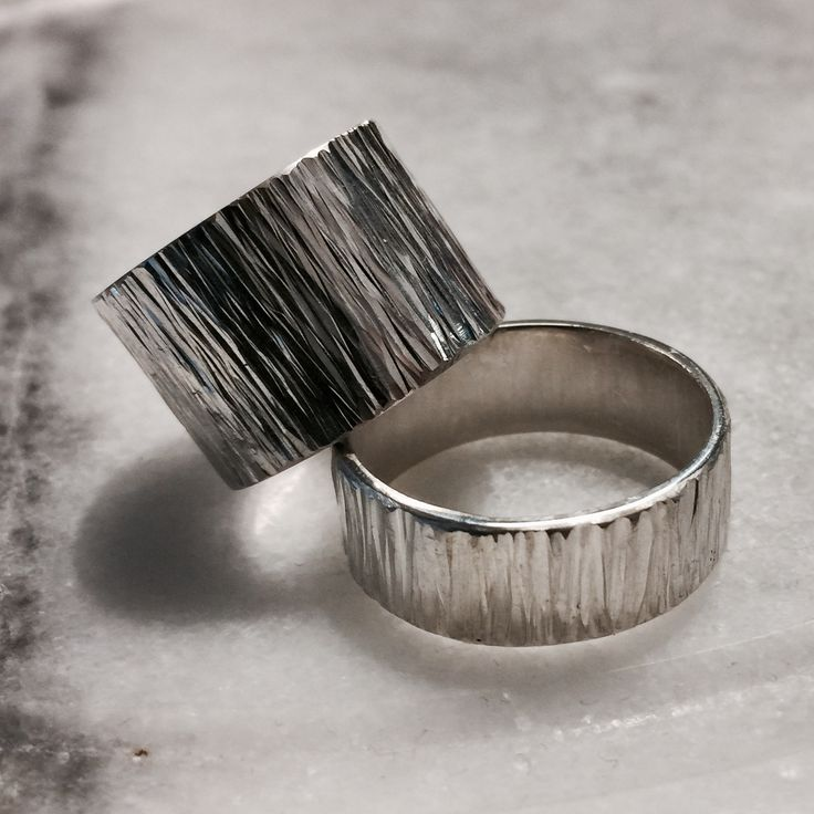 Silver Rings for him and her.