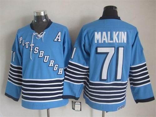 b8eef9e1 ... Pittsburgh Penguins 71 Evgeni Malkin Light Blue CCM Throwback Jersey  32.0 ...