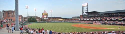 Memphis Redbirds at AutoZone Park. Great family fun. Check the schedule for promotion nights and fireworks schedule.