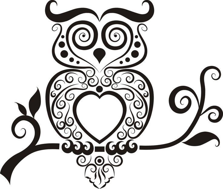 Outline owl | Tattoos | Pinterest | Owl