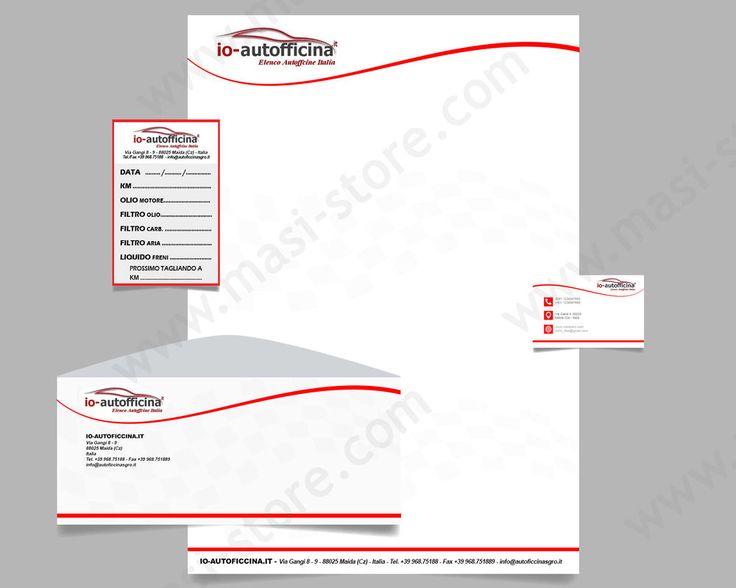 SET Etichetta Tagliando Auto + Buste e Carta Intestata + Bigliettini da Visita | eBay