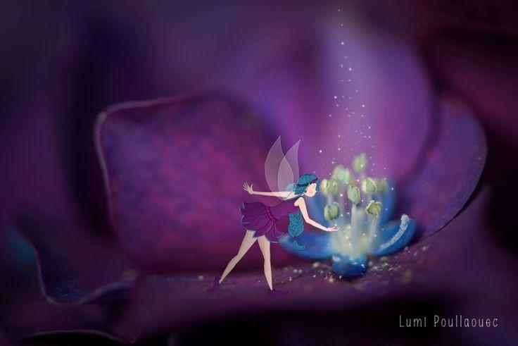 #Draw #Fée #Fairy #Fleur #Conte #Photographie #Magie #Dessin ©Lumi Poullaouec