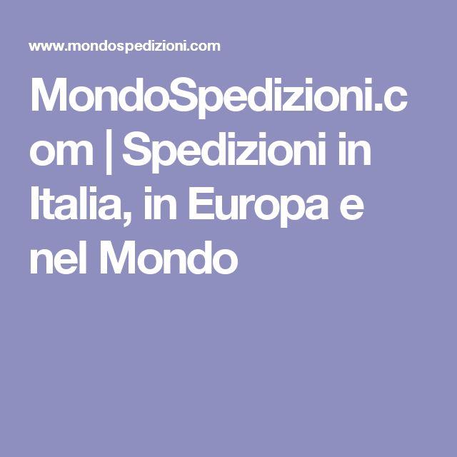 MondoSpedizioni.com | Spedizioni in Italia, in Europa e nel Mondo