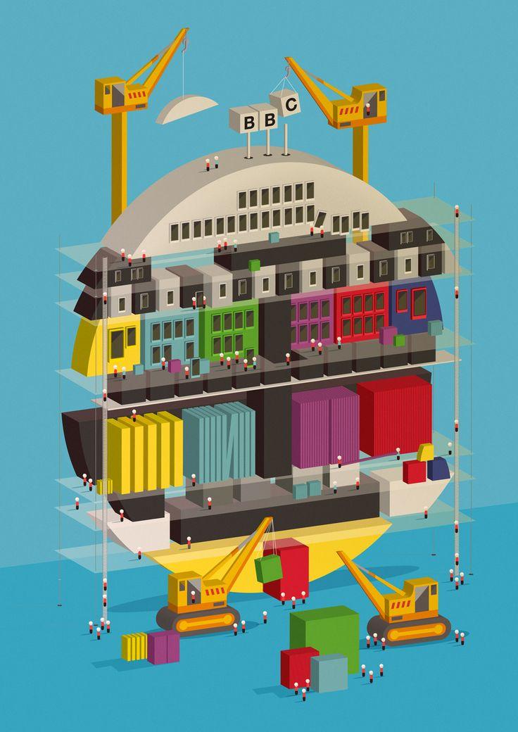 BBC Testcard BuildingBy Neil Stevens Here's an illustration I created recently…