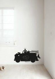 Muursticker brandweerauto voor stoere jongens (SS11)