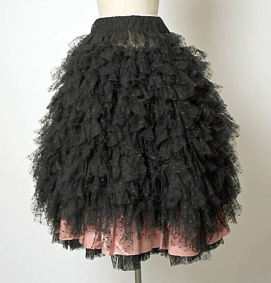 Evening skirt  House of Balenciaga (French, founded 1937)  Designer: Cristobal Balenciaga (Spanish, 1895–1972) Date: 1955 Culture: French Medium: cotton, silk