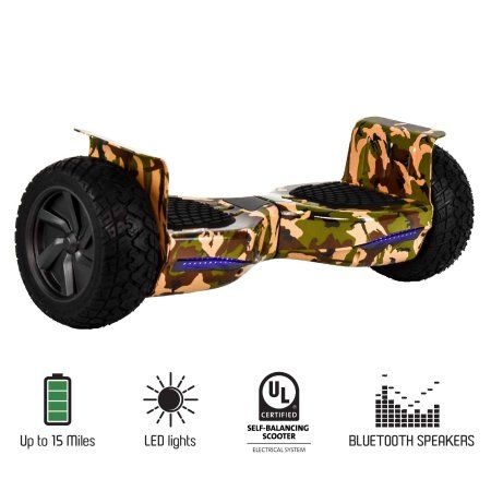 Hoveroid 8 5 All Terrain Bluetooth Hoverboard Army Green Camo Ul2272 Listed Safe Scooter Walmart Com In 2021 Bluetooth Hoverboard Green Camo Hoverboard