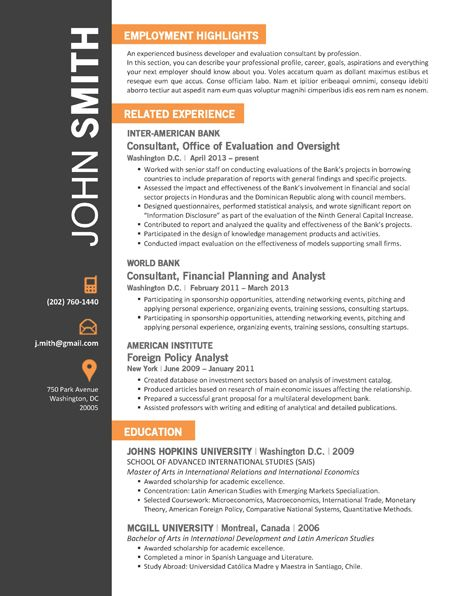 Best Office Resume Template Images On   Creative