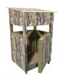 Picture of a deer blind the home depot hunting for Wooden box tree stands