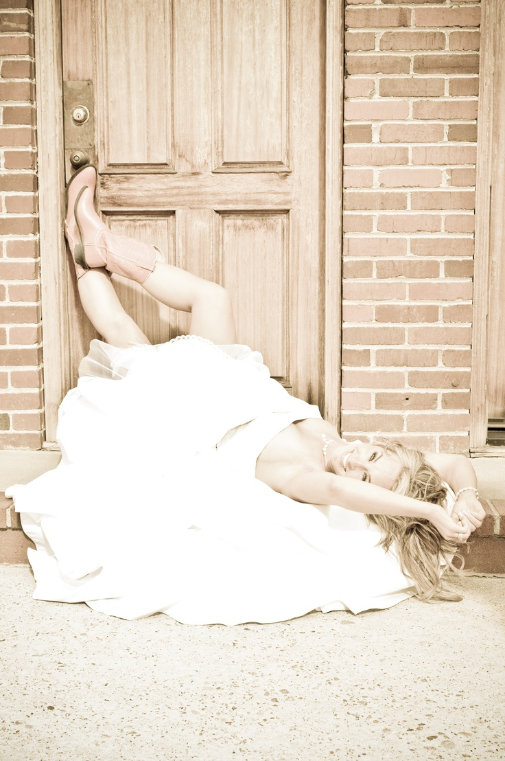 Cowboy Boots Wedding Dress Hair