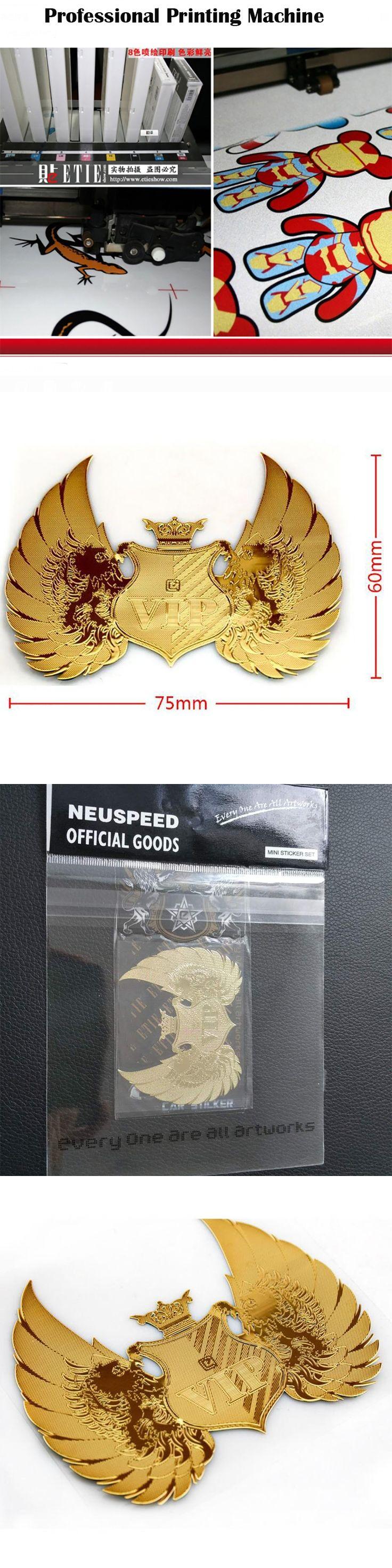 NEUSPEED 7.5*6CM Gold  VIP Logo Car Stickers Auto A Emblem Symbol Creative Personalized Funny Car-styling Sticker