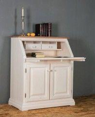 Woodline Sekretär Chiemgau 93005 Fichte Massivholz weiß lackiert