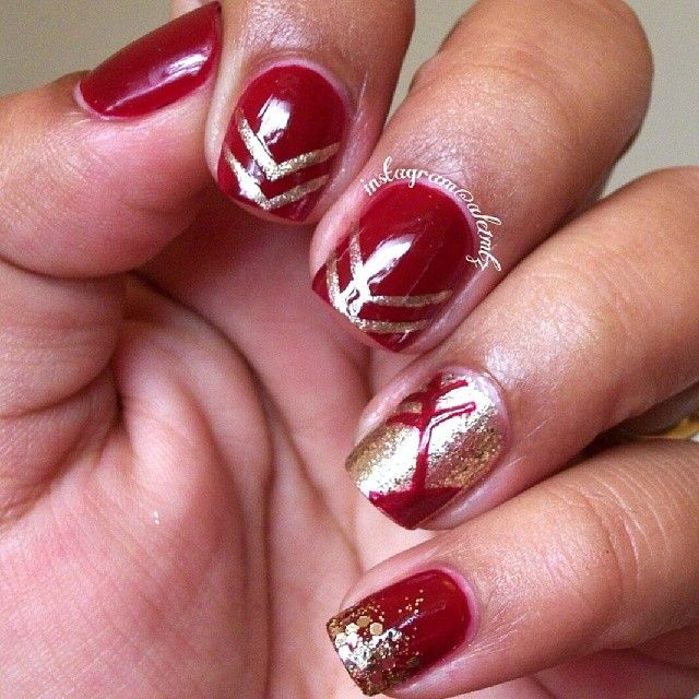 FSU nail red and gold nail art seminoles & 264 best FSU Tailgate/Parties images on Pinterest | Florida state ...