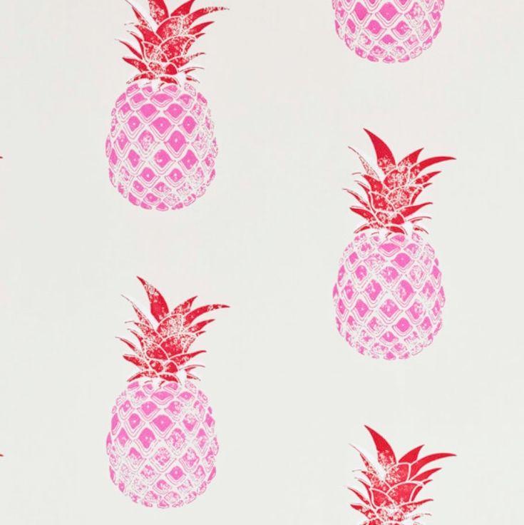 Pineapple wallpaper by Barneby Gates PatternSpy shop