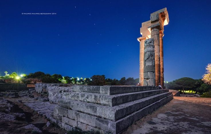 Our #Island isn't only #Sun, #Sea & #Relaxion, is about #history too.  The #Temple of #Apollo at Monte Smith, #Rhodes #Greece