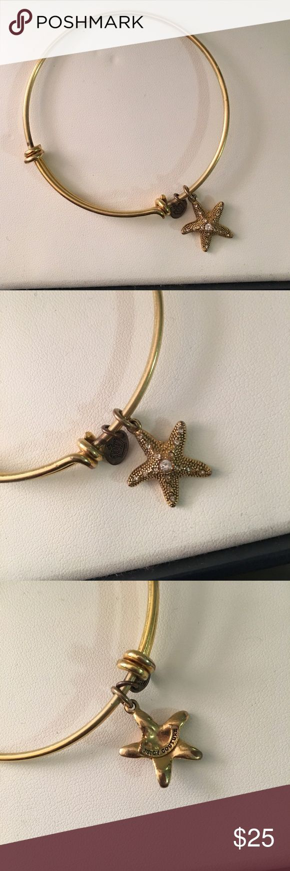 Juicy Couture gold starfish bangle Gently used Juicy Couture gold starfish bangle. Looks great alone or in a stack! Juicy Couture Jewelry Bracelets