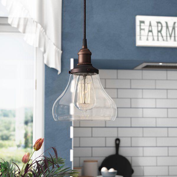 Sandy Springs 1 Light Single Teardrop Pendant Farmhouse Pendant