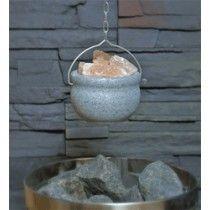 Vuolukivestä valmistettu saunan suolamalja