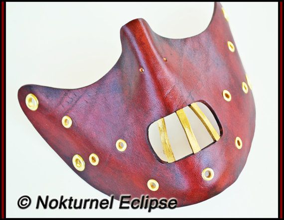 Steampunk Hannibal Lecter Leather Mask by Nokturnel Eclipse