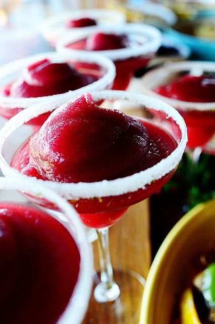 Blackberry Margaritas! As gorgeous as they are delicious.