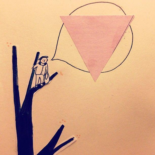 My fault. #OnATree #fault #illustration #FedericaTeti #triangle #tree