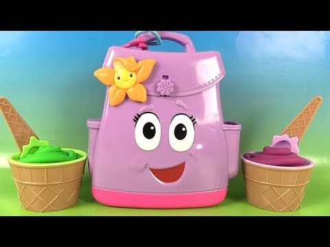 Dora l'Exploratrice Sac à Dos Fidget Hand Spinners Play Doh Surprises - YouTube   Dora l ...