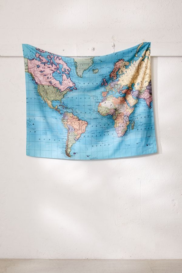 Adam Shaw For Deny 1897 World Map Tapestry Bedroom Pinterest