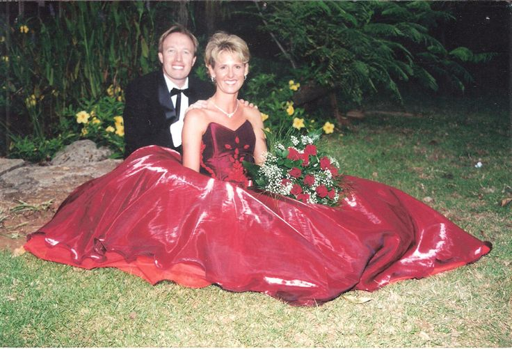 Timeless Embroidered Red ball gown.