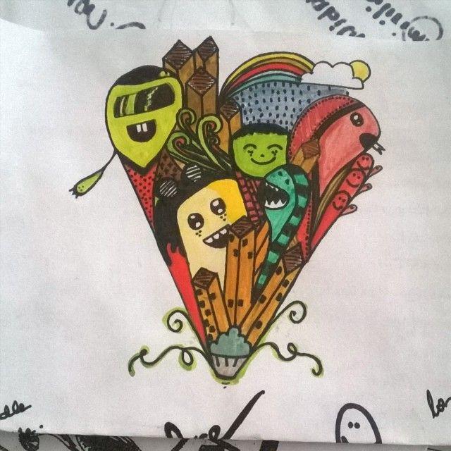 Illustration, doodle, color