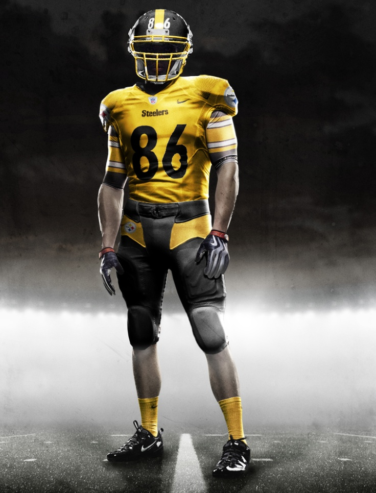 new nike steelers uniforms! Too bad 86 won't be around to wear it!