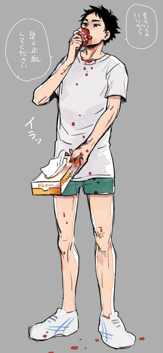 Akaashi Keiji nosebleed