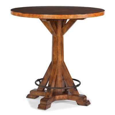 Features:  Matched Veneer Top.  Metal Footrest Ring. Product Type:  . Pub  TablesTable ...