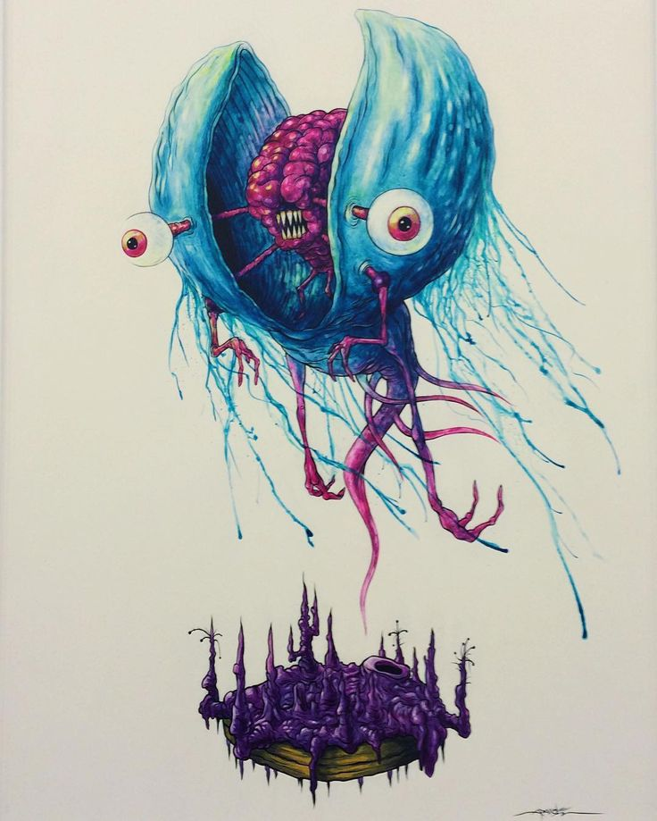 """Muscles"" Astralnauts by Alex Pardee"