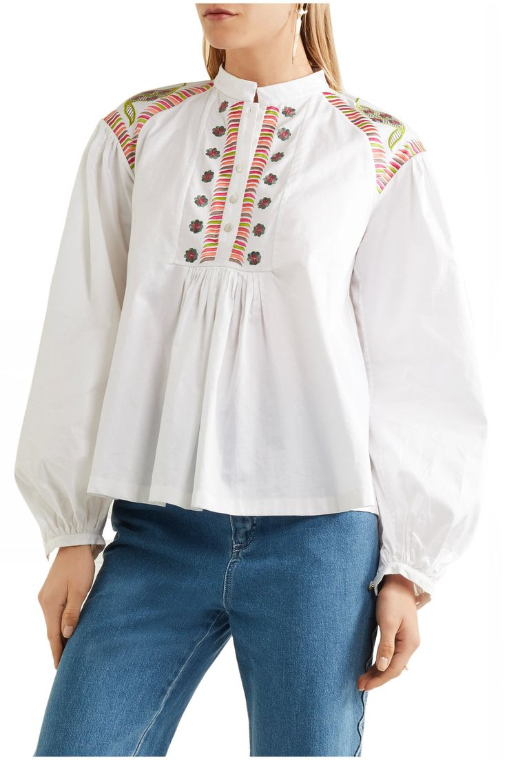 Shop on-sale Temperley London Fable embroidered cotton blouse. Browse other discount designer Tops & more on The Most Fashionable Fashion Outlet, THE OUTNET.COM