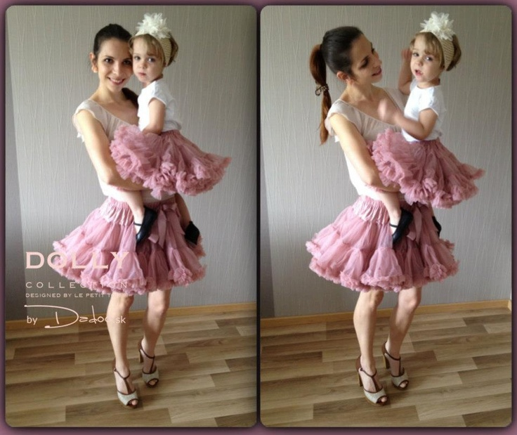mum and baby in Cat princess dolly skirt