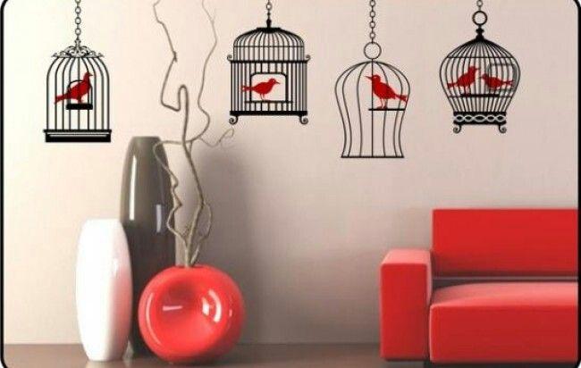 73 best decoraci n con vinilos images on pinterest ideas - Decoracion con jaulas ...