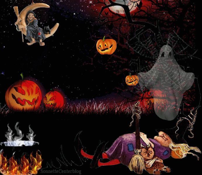 halloween gifs | ... sorciere halloween gif animé halloween gifs chat image gif centerblog