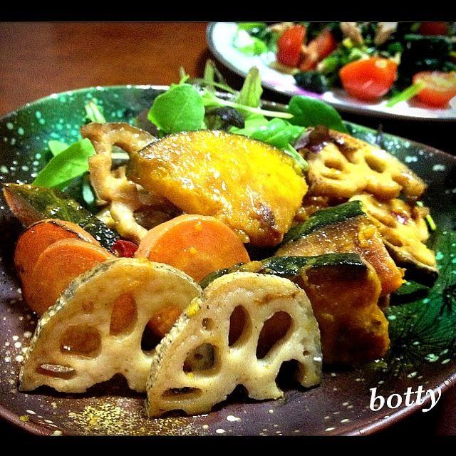 これ、大好きなんですっ(´艸`)   特にかぼちゃっ❤❤ バクバク食べちゃうよーっ - 199件のもぐもぐ - めっちゃ簡単☆根菜の南蛮漬けっ by botty