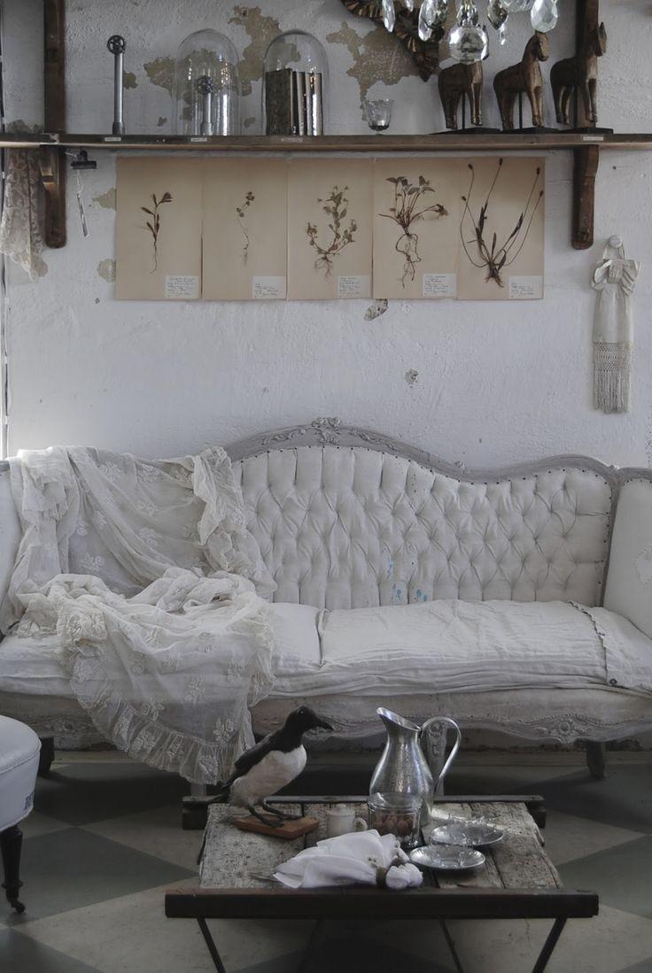 les 25 meilleures id es de la cat gorie canap shabby chic sur pinterest canap shabby chic. Black Bedroom Furniture Sets. Home Design Ideas