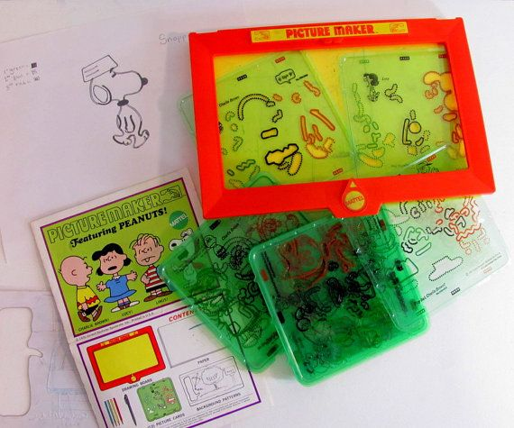 Vintage Toy 1970s Picture Maker Peanuts and by dirtybirdiesvintage, $30.00