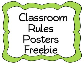 Free classroom rules posters for your classroom.  Created by Teaching in the Primary Grades