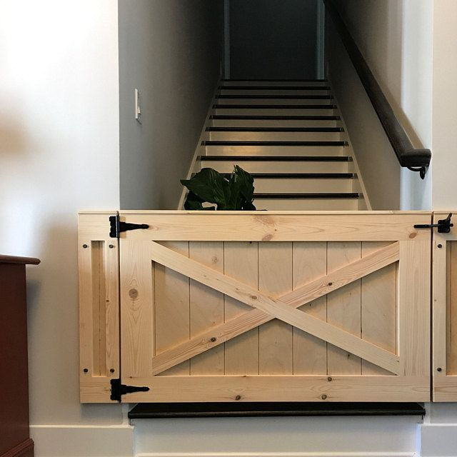 Rustic Dog Baby Gate Barn Door Style W Side Panels In 2020