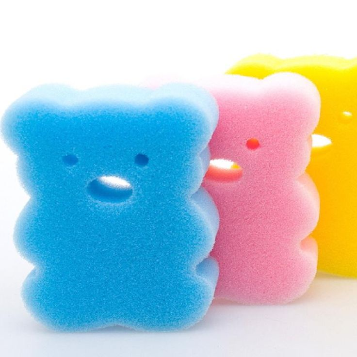 Newborn Baby BathTub Care Sponge Shower Bath Brushes Back Towel Rub Cute Infant Brush Child Foam Scrubber Random Colors