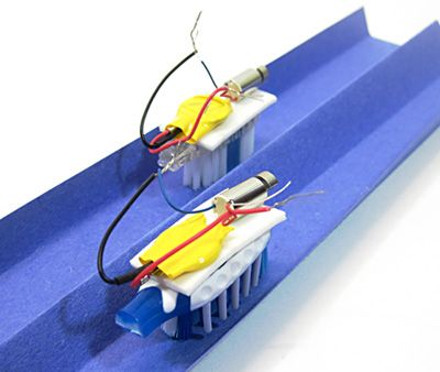 bristlebots racing- instructions on how to make your own vibration robot